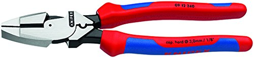 Knipex 09 12 240 SBA 9.5-Inch Ultra-High Leverage Lineman's Pliers with Fish Tape Puller and Crimper