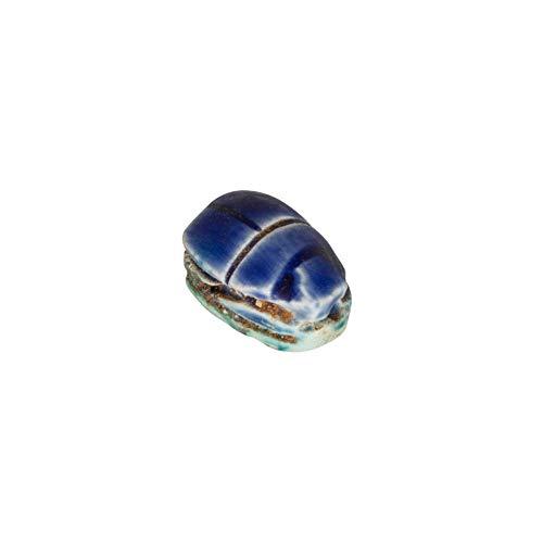 Creatulote Escarabajo Egipcio Amuleto en Color Azul