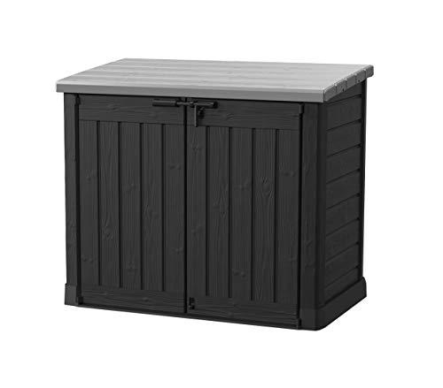 Koll Living Gartenbox Mülltonnenbox Gerätebox Schuppen für 2X 240 Liter Mülltonnen - 100{5e0ba78e07e2c2f1340133c7de3dcd67323040105d5125c770abb1de0b03d1ee} schimmelfrei durch Belüftung - Modell 2021