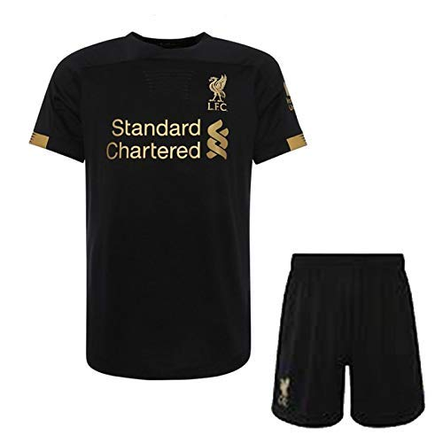 "GOLDEN FASHION IMPORTED LIVERPOOL AWAY KIT 2018-19 JERSEY WITH SHORT FOOTBALL JERSEY (MEDIUM 40"")"