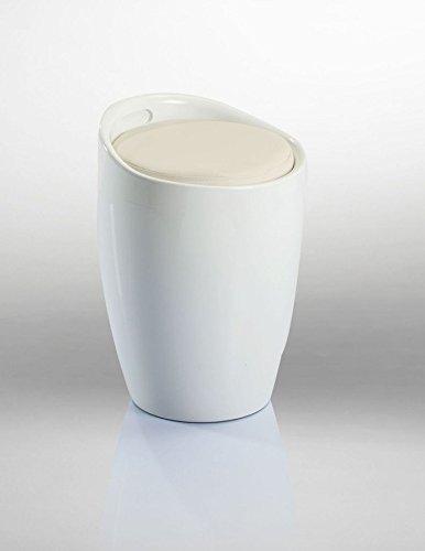 Badhocker Sitzhocker Hocker Stuhl mit Stauraum Weiss DH0602 - Duhome - mit Stauraum Abnehmbare Sitzkissen Wäschehocker