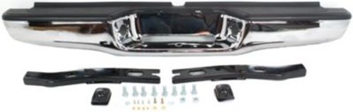 CPP Steel Chrome Step Bumper w/o Parking Aid Sensor Holes for 95-04 Toyota Tacoma