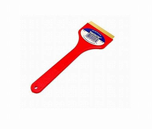 CJ Industries F101 Fantastic Ice Scraper with Brass Blade, Red