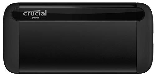 Crucial CT1000X8SSD9 X8-SSD portátil 1TB, de hasta 1050 MB/s, USB 3.2, Unidad de estado sólido externa USB-C, USB-A