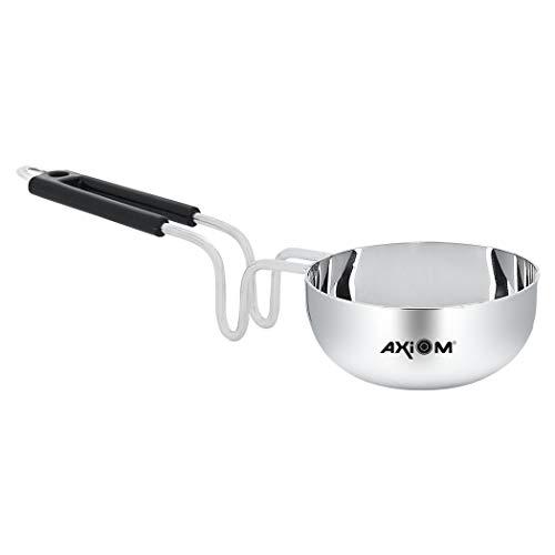 AXIOM TADKA PAN Stainless Steel Large with Handle ; Unbreakable Heavy Gauge & bakelite Grip....