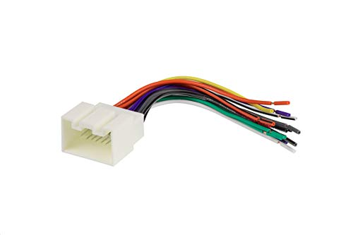 Scosche FD16B Wire Harness to Connect an Aftermarket Stereo Receiver for Select 1998-2009 Ford Vehicles, White