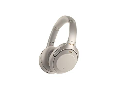 Sony Noise Cancelling Headphones WH1000XM3: Wireless Bluetooth Over the Ear Headphones with Mic and Alexa voice control - Industry Leading Active Noise Cancellation - Silver