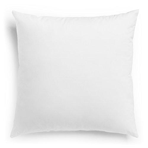 sleepling 197194 - Cuscino in fibra Inlet, per divano, cuscino decorativo e decorativo, rivestimento in 100% microfibra, 50 x 50 cm, colore: Bianco
