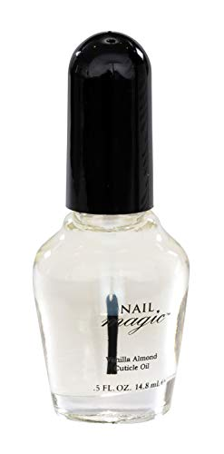 Nail Magic - Vanilla Almond Cuticle Oil, 0.5 fluid ounces, Aids in the repair of Cracked Cuticles, Peeling, Brittle Natural Fingernails, 60 Years of Superior Results