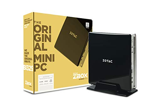 Zotac Zbox BI329 Barebone mini-PC (Intel N4100 quad-core, Intel UHD Graphics 600),Schwarz