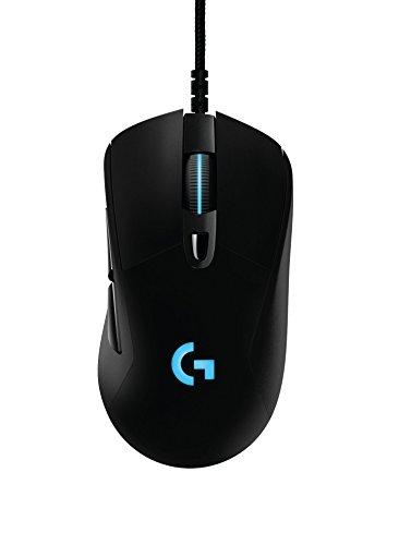 Logitech G403 Prodigy Wired Mouse per Giochi Ottico con Cavo, 12.000 DPI, Connessione a 2,4 GHz, per PC, MAC, USB, Nero
