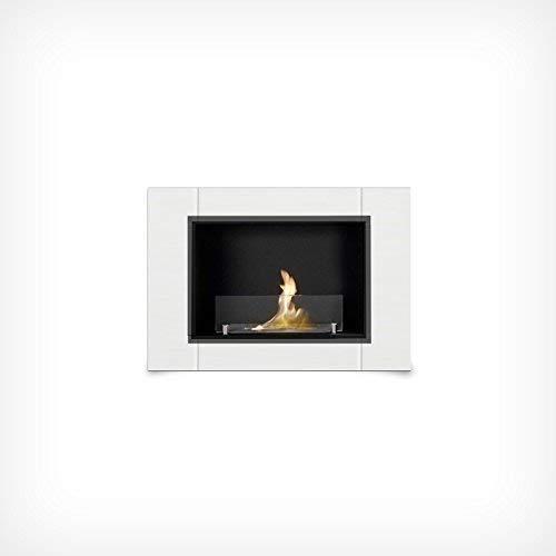 Druline 78 cm Luxury Gel Fireplace White Gel Fireplace Wall Fireplace Bio Ethanol