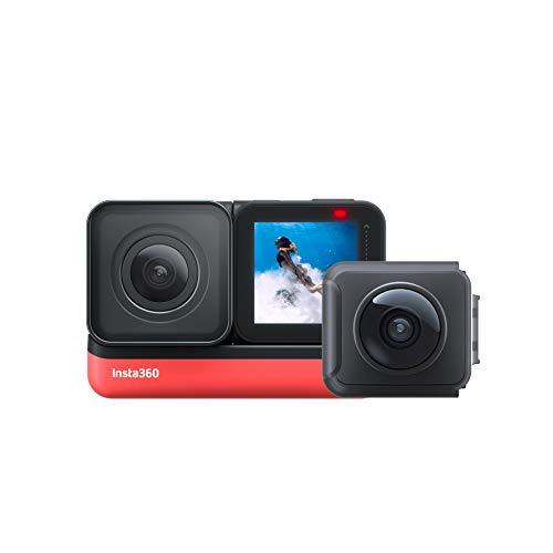 Insta360 ONE R Sport Video Adaptive Action Kamera IPX8 wasserdichte Sprachsteuerung (360+4k Twin Edition)