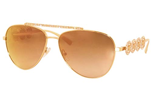 31lD2R1aTfL Brand: Versace Model: VE2219 Style: Fashion Pilot Frame Color: Rose Gold - 1412/K2 Lens: Brown Gradient/Pink Mirror Size: Lens-59 Bridge-14 B-Vertical Height-50.5 ED-Effective Diameter-66.4 Temple-140mm Gender: Women's 1-Year Manufacturer Warranty Frame Material: Metal Geofit: Global Base: Base 6 Decentered
