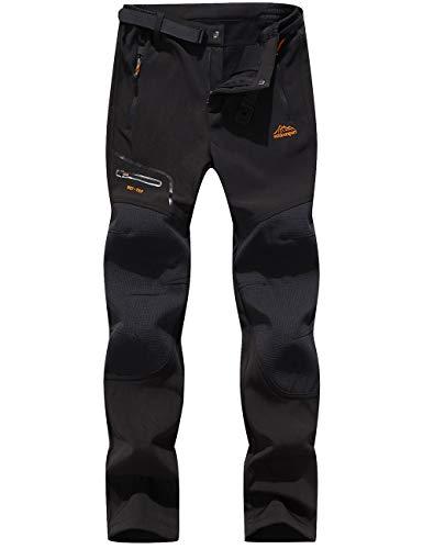 BenBoy Women's Outdoor Waterproof Windproof Fleece Cargo Snow Ski Hiking Pants,SF1602W Black M