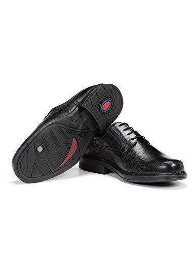Fluchos   Zapato de Hombre   Clipper 9579 Cidacos Negro Zapatos Confort   Zapato de Piel de Ternera de Primera Calidad   Cierre con Cordones   Piso de Goma Personalizado