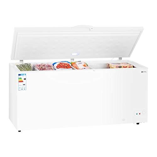 Royal Catering Congelatore a Pozzetto Freezer a Pozzo Professionale RCFZ-560 (560 L, A+, 406 kWh/anno, Illuminazione LED, Serratura, Temperatura -12 a - 28C, inkl. 4 Cestelli)