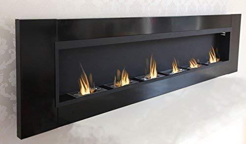 6 Burner Luxury Chimney Bio Ethanol Gel Fireplace Wall Fireplace Cheminee Black High Gloss