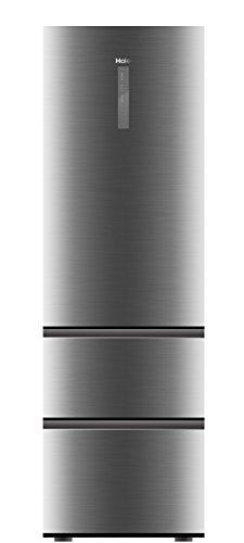 Haier A3FE735CGJE Kühl-Gefrier-Kombination (Gefrierteil unten)/A++/190 cm/265 kWh/Jahr/233 L Kühlteil/97 Gefrierteil/Inverter Kompressor/Total No Frost/silber