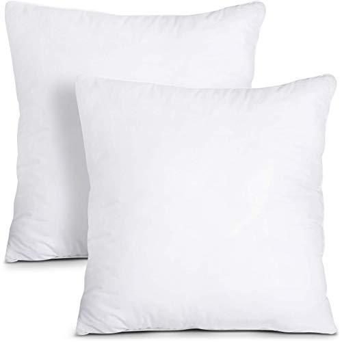 Utopia Bedding Set di 2 Cuscini - 60 x 60 cm Imbottitura per Cuscini - Tessuto Misto Cotone Cuscini Divano - Cuscino Interno (Bianco)
