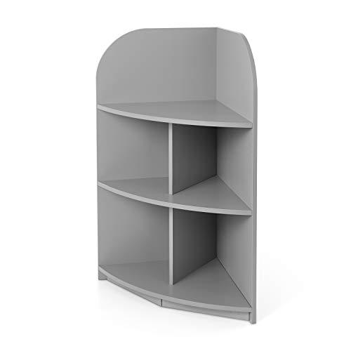 kovalenthor Wood 3 Shelf Corner Bookcase Organizer, Multiple Finishes