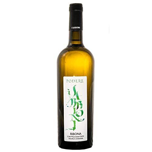 Podere Sabbioni Colli Maceratesi DOC 2019 Ribona della famiglia- viticoltura sostenibile - bottiglia di vino bianco da 0,75 L - produzione limitata