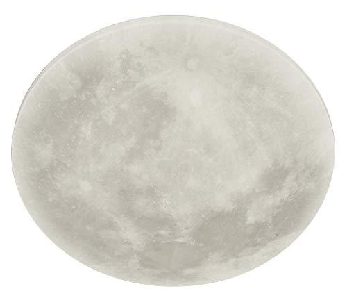 Trio Leuchten LED Deckenleuchte Lunar 627514000, Acryl mit Mondmotiv, Mondphase wechselbar, 1 x 22...