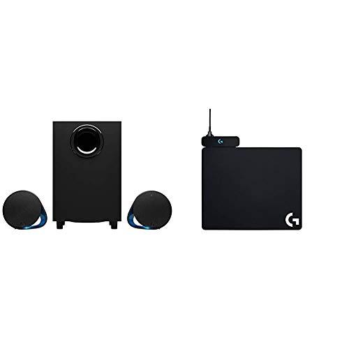 Logitech G560 LIGHTSYNC PC Gaming Speakers - N/A - USB - N/A - EMEA + G Powerplay Alfombrilla de Carga Inalámbrica, Compatible con Ratón Gaming Inalámbrico G PRO/G903/G703/G502 Lightspeed, Negro