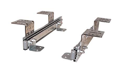 EisenRon Auszugschienen für Tastaturauszug Untertischmontage 40cm x 4,7cm
