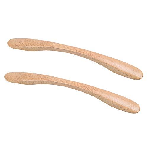 2 Pezzi Maniglie in Legno Maniglie per Cassetti in Legno Maniglia per Mobili da Cucina Pomelli per Mobili Bambini Maniglia per Guardaroba Maniglie per Ante Armadio(Wood colorHole distance: 160mm)