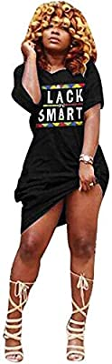 Features: Off shoulder maxi dress, letter print casual dress, short sleeve t shirt dress, loose fit tunic dress Fashion sexy and elegant street wear tee dress, juniors casual dresses are always popular among modern ladies. Occasion: Womens t shirt dr...