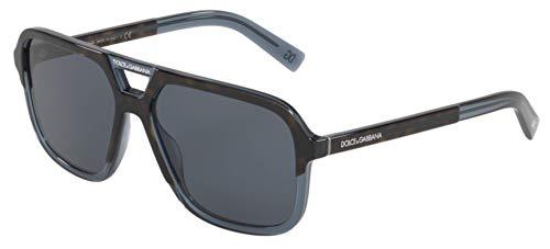Sunglasses Dolce & Gabbana DG 4354 320980 Top Havana On Transp Blue