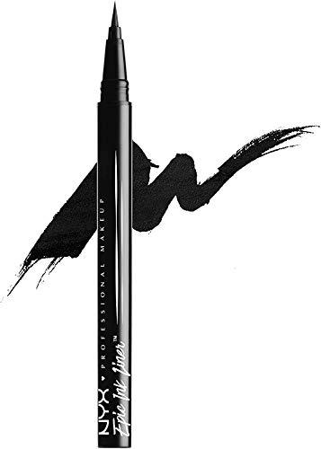 NYX Professional Makeup Delineador de ojos Epic Ink Liner, Punta de pincel, Resistente al...
