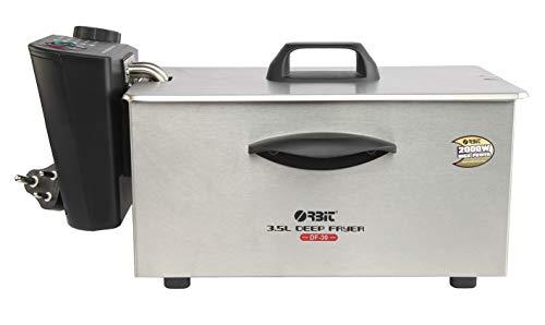 ORBIT Stainless Steel DF-30 3.5 L Electric Deep Fryer (Silver)