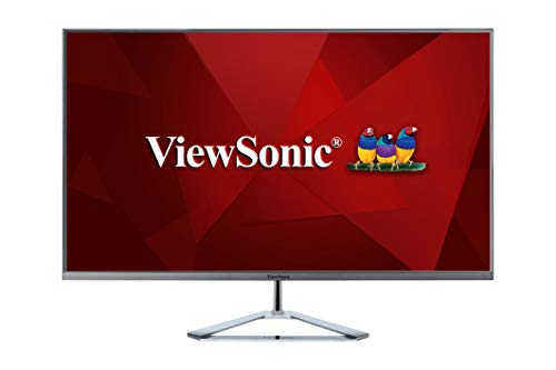 Nevir Viewsonic VX3276-2K-MHD 32' WQHD, Panel IPS, HDMI, DP, mDP, Eye-Care, Eco-Mode, Altavoz, Plateado-Negro
