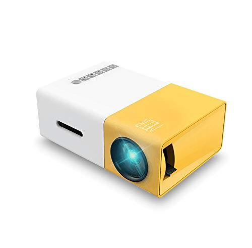 Meer YG300 Tragbarer Kleiner Farbige LED- Miniprojektor für Geschenk von Kinder, Videofilm, Partyspiel, Unterhaltung im Freien, mit HDMI USB AV-Schnittstellen und Fernbedienung