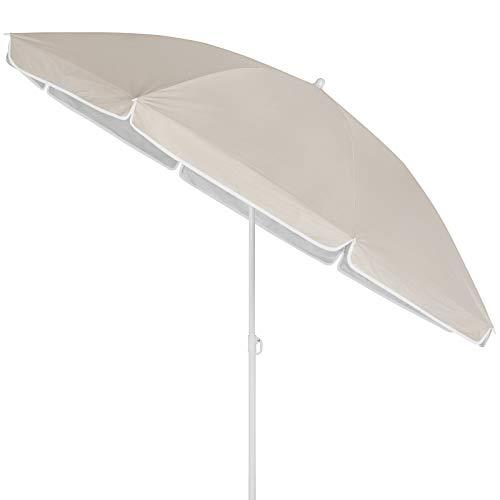Kingsleeve Sombrilla Parasol Crema 180 cm con Altura Ajustab