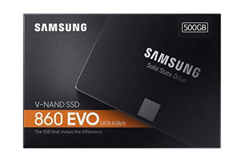 Product Image 1: Samsung Memorie MZ-76E500 860 EVO SSD Interno da 500 GB, SATA, 2.5″