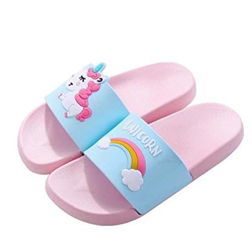 Unicornio Zapatillas para Niños Niñas Sandalias de Diapositivas Playa de los Cabritos al Aire Libre Sandalia Suave del Unicornio Bañera Zapatillas