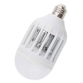 Nsdsb Ampoule LED Moustique Tueur électronique veilleuse Lampe Insecte Mouches répulsif Blanc