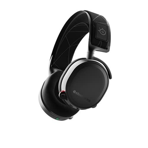 SteelSeries Arctis 7 - Casque de Jeu sans Fil et sans Perte - Son Surround DTS Headphone:X v2.0 pour PC et PlayStation 4 - Noir