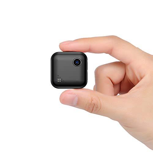 QZT - Mini telecamera di sorveglianza WiFi con manuale utente in 3 lingue (EN/DE/FR) – Telecamera IP wireless piccola con visione notturna HD mini telecamera di sicurezza per interni ed esterni