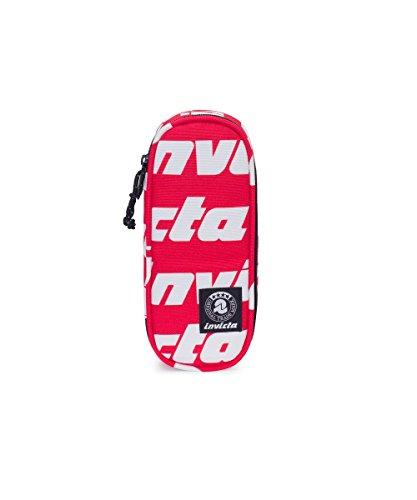 Portapenne INVICTA - LIP PENCIL BAG - Lettering Rosso - porta penne scomparto interno attrezzato