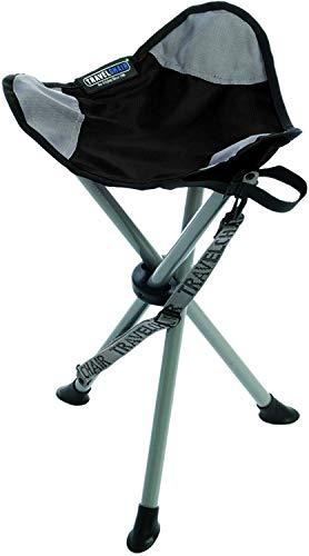 TravelChair Slacker Chair, Tripod Stool, Black