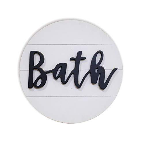 Lavender Inspired Rustic 3D Bath Sign for Bathroom-Round Wood Bathroom Signs Decor-Modern Farmhouse Bathroom Wall...