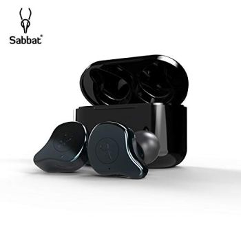 Sabbat E12 3D Clear Sound True Wireless Earbuds Blutooth 5.0 TWS Stereo Earphones A week's Endurance with Built-in Mic and Charging Case for iPhone, Samsung, iPad, Android(Gunmetal)