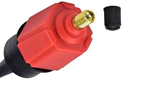 Powertool Pumpen-Adapter, Luftventil-Konverter mit 4 Gasdüsen für Boot, Schlauchboot, Wasser, Raft, Stand-Up-Paddel, Kajak