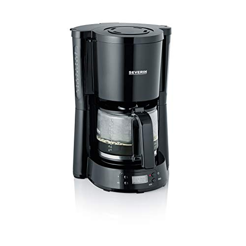 Severin KA 4818 Macchina per Il caff, t e Tisane, Fino a 10 Tazze, 1000 Watt, Timer Digitale,...