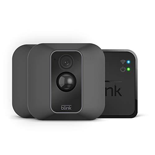 Blink XT2   Telecamera di sicurezza per interni/esterni con archiviazione sul cloud, audio bidirezionale, autonomia di 2 anni   Sistema a 2 telecamere