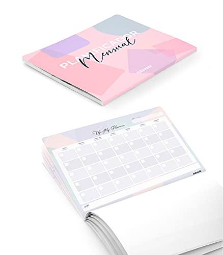 Takenote Agendas - Planificador Mensual Perpetuo Colors - 31,5 x 23 cm - 56 hojas - Encolado Inferior